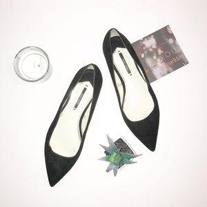 Black Zara Basics Flats Size 38